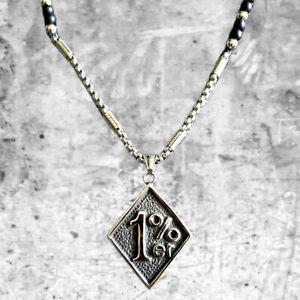 "Hells Angels Support 81 ""1%er"" Kette / Chain - silver / black - HAMC North End"