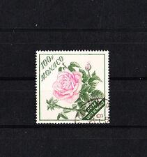 MONACO   flore  fleur  rose 100f    de 1959  num:  522   oblitéré