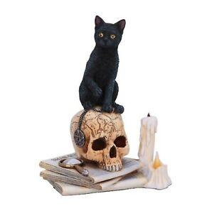 Nemesis Now - LISA PARKER BLACK CAT SKULL & CANDLE FIGURINE - Spirits Of Salem