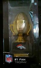 DENVER BRONCOS TROPHY Number One Bronco Fan NFL Football Figurine HEAVY - BOXED