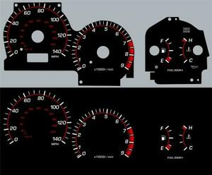 01-07 Subaru Impreza WRX Glow Gauges Dials Kit 140MPH