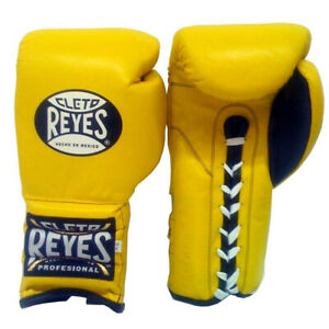 Cleto Reyes Traditional Lace Up Training Boxing Gloves - Yellow