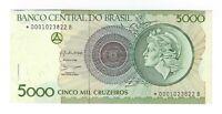 5000 Cruzeiros Ersatzbanknote Replacement 1990 C222a / P227 UNC Brazil Star Note
