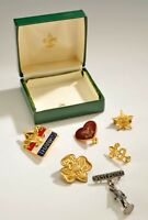 VINTAGE BOY SCOUT & GIRL SCOUT PINS & WEST POINT LOT OF 6