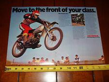 1975 HONDA CR 125 - ORIGINAL 2 PAGE AD