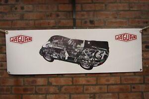jaguar D Type XKSS large pvc banner work shop banner garage ect