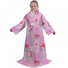 Peppa Pig Tweet Manga Manta Polar Niñas Rosa para Niños Snuggle Wrap Tirar