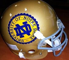 Notre Dame Fighting Irish University School Seal Schutt Football Helmet(L)Large