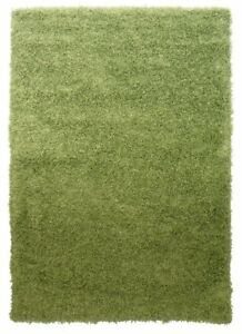 Soft Non Shed Thick Plain Easy Clean Shaggy Rugs Ontario - 16 Colours and 14...