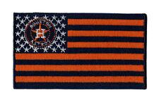 """⚾4"""" HOUSTON ASTROS USA FLAG Logo Iron-on Baseball Jersey PATCH!"""