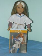 """American Girl Doll Julie Pre-Beforever Classic + Meet Purse Necklace Book 18"""""""