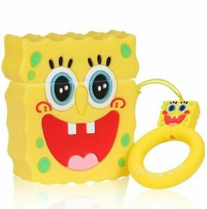 Shockproof Premium Case Silicone Spongebob Protective Cover for AirPod 1/2