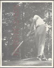 II Vintage Photo Golfing Man Johnny Bulla w/ Golf Club in Swinging Motion 704319