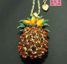 Cute  NWT Betsey Johnson Necklace  Hawaii Pineapple Summer Time Beach Cruise