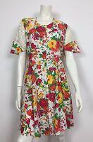 Abito vestito usato floreale estivo M  leggero donna vintage corto T1860
