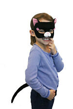 Party Costume Kids Boys Girls  Animal Cat Mask & Tail Set