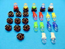 "15 Assort. Domes LEDs Lights Bulbs 1/2"" Sockets Instrument Panel Dashboard Chevy"
