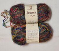Universal Yarn Jewels, 2 skeins, col. Northern Lights, acrylic/mohair, 5 bulky