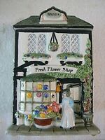 """""""FRESH FLOWER SHOP"""" & """"BISCUITS"""" Cookie Jar, Great Painting, No Issues"""