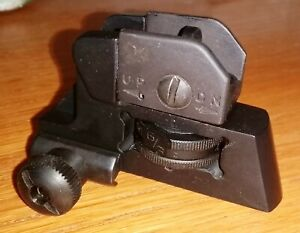 Sub Compact Rear Sight M4, with Elevation & Windage, paintball special