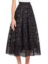 Sachin & Babi Noir Erna Artwork Floral Skirt Black Size 6 $695 Sold Out