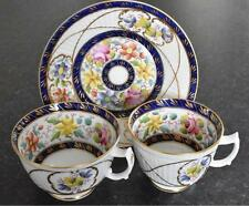 SUPERB Newhall Wicker moulded hand-painted trio, pattern no. 1944, c.1820 (B056)