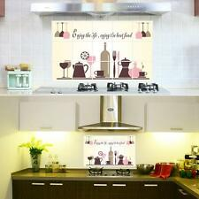 Wine Glass Coffee Cup Pot Kitchen Oil Proof Decor Wall Sticker for Kitchen Decor