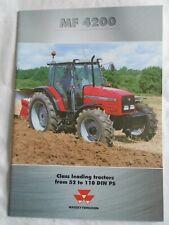 Massey Ferguson MF4200 Tractors range brochure 2000
