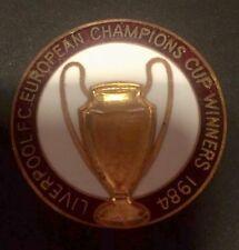 Vintage Liverpool FC 1984 Taza de campeones europeos insignia de ganadores