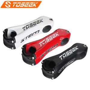Toseek Carbon Fiber MTB Road Bike Handlebar stem ±10° 28.6*31.8-80/90/100/110mm