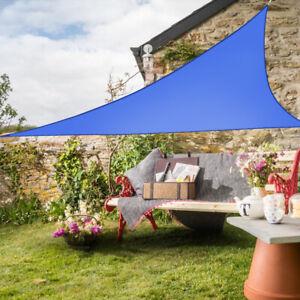 Sonnensegel Dreieck Sonnenschutz Segel Beschattung UV-Schutz Blau 3.6x3.6x3.6m