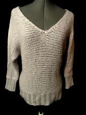 AMERICAN EAGLE Wool Knit Sweater Top women M Lavender purple MOHAIR wide v neck