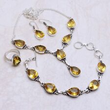 Citrine Gemstone Ethnic Handmade Jewelry Sets L-538