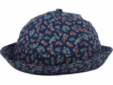 Crooks & Castle Navy Paisley Bucket Cap Sun Hat $32 size S/M