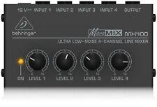 Behringer Mx400 MICROMIX Low Noise 4 Channel Mono Line Mixer