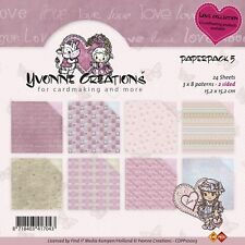DIN A5  von Yvonne Creations YC-A5-10011 Holly Jolly Leinenpapier-Set
