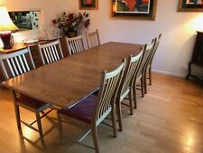 ERCOL Windsor Dining Table (Large Extending) (1194) & 8 Penn Clasic Chairs (1138