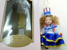 2005 Fun Bobby Design Porcelain Collectible Ornament Doll Red White Blue July 4