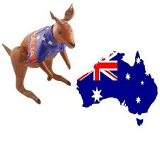 INFLATABLE AUSSIE FLAG KANGAROO Australian Fancy Dress Kids Party Blow Up 70 cm