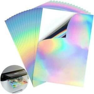 Waterproof Sticker Vinyl Paper Holographic For Inkjet Printer T8C5