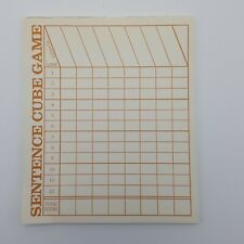 Scrabble Sentence Cube No.96 Replacement 21 Score Pad Sheets