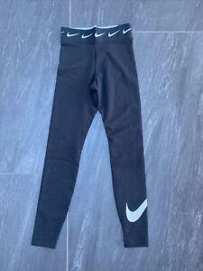 Women's Nike Sportswear Club High Waisted Leggings In Black & White Extra Small