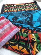 Vintage Retro 1970's Hand Bath Towels - Campervan, Beach, Gym, Spanish Flamenco