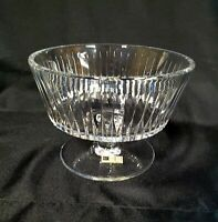 Vintage Lead Cut Crystal Pedestal Dish Barth-mann hand made