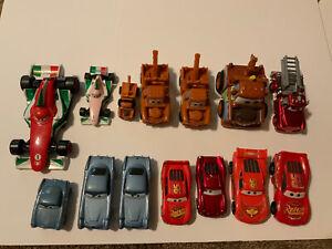 10 + 4 = 14 pc lot Disney Pixar Cars Movie Car Collection Lightning McQueen