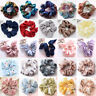 Women Bow Knot Hair Rope Ring Tie Scrunchie Print Ponytail Holder Christmas Gift