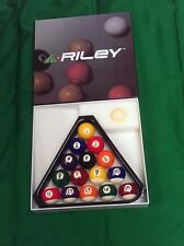 "Riley Aramith 1 7/8""(47.5) Spots Stripes Pool Balls & 4 Snooker table + triangle"