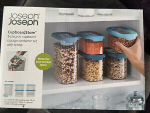 Joseph Joseph New 5 Piece Cupboard Store Container Set RRP £40