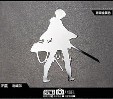 Anime Attack On Titan Levi 3D Metal Decal Sticker For Phone Decal Car Sticker