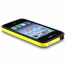 2-Tone Bumper Case with Chrome Buttons for iPhone 4 / 4S - Yellow/Black